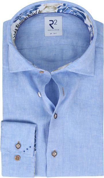 R2 Shirt Linen Light Blue