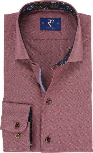 R2 Shirt Mouline Bordeaux