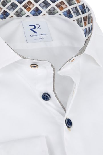 R2 Shirt White Diamond Shape