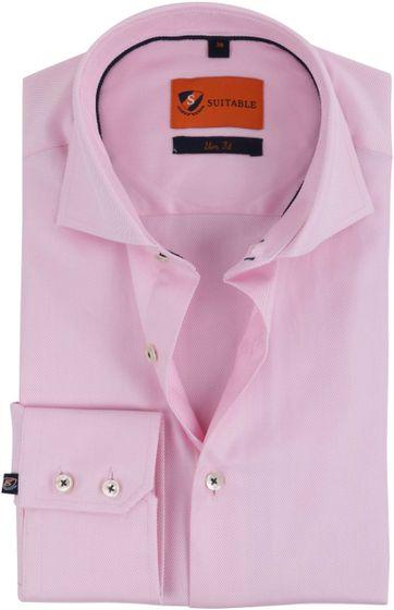 Roze Overhemd.Roze Zakelijk Overhemd N 9 100 2ply Twill