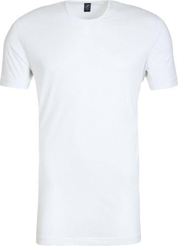 Rundhalsausschnitt 6er Pack Bambus T-Shirt Weiß