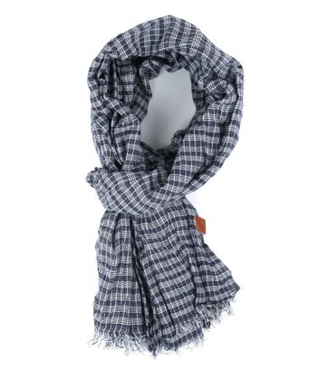 Sarlini Shawl Checks Navy