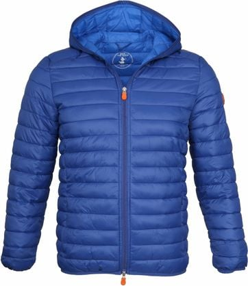 Save the Duck Jas Giga Hooded Blauw