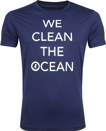 Save The Duck T-shirt Navy Stretch Tekst