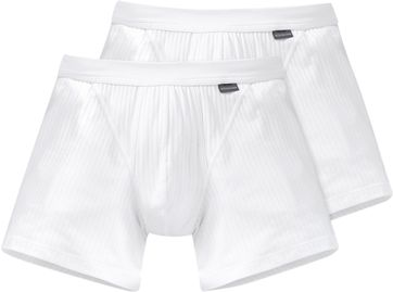 Schiesser Boxershort White Authenthic (2Pack)