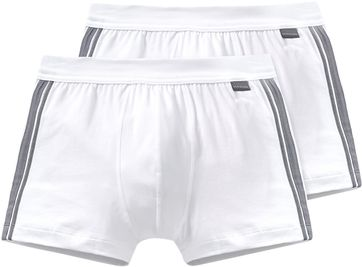 Schiesser Shorts White Stripe (2Pack)