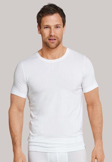 Schiesser T-shirt Ronde hals Wit (2Pack)