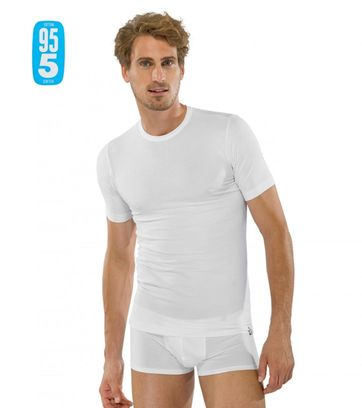 Schiesser T-shirt Round Neck White 2-Pack