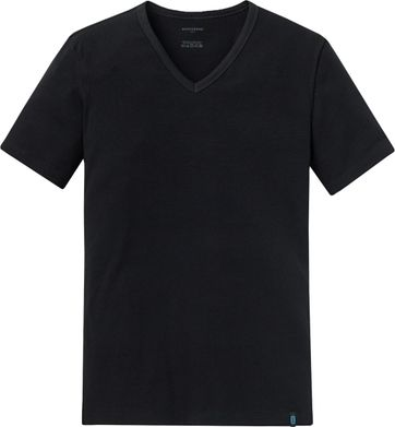 Schiesser T-shirt V-Neck Black