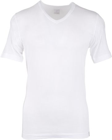 Schiesser T-shirt V-Neck White