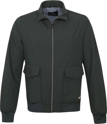 Scotch and Soda Bomber Jack Dark Green