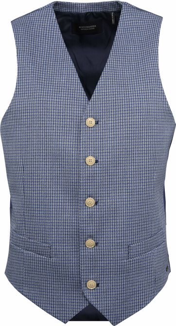 Scotch and Soda Gilet Blauw