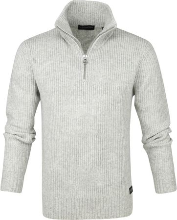 Scotch and Soda Half Zip Trui Grijs