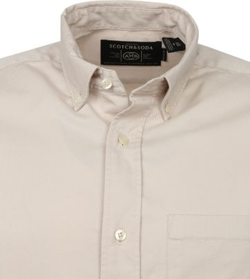 Scotch and Soda Hemd Beige Solid