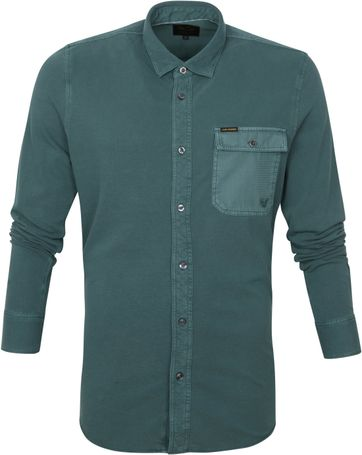 Scotch and Soda Hemd Garment Dye Dark Green