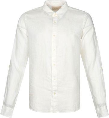 Scotch and Soda Hemd Leinen Garment Dyed Weis