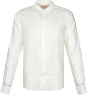 Scotch and Soda Hemd Leinen Garment Dyed Weiss