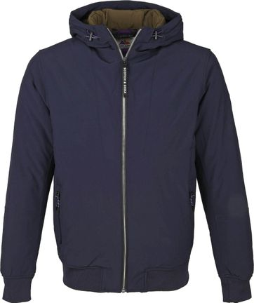 Scotch and Soda Hooded Jacket Navy