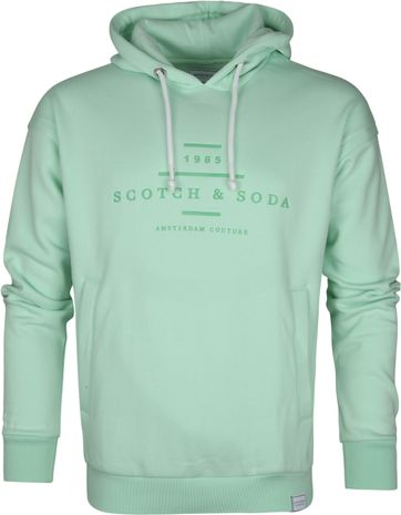 Scotch and Soda Hoodie Mint Groen