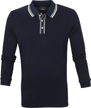 Scotch and Soda Longsleeve Polo Donkerblauw