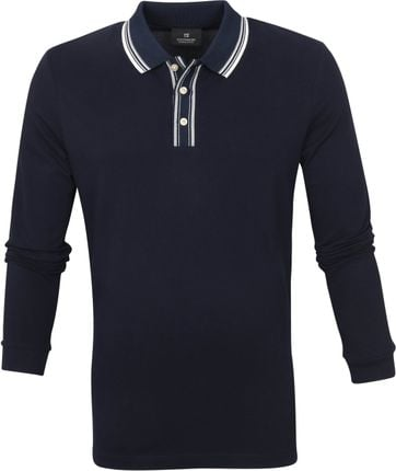 Scotch and Soda Longsleeve Polo Print Navy