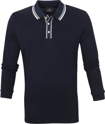 Scotch and Soda Longsleeve Polo Shirt Navy