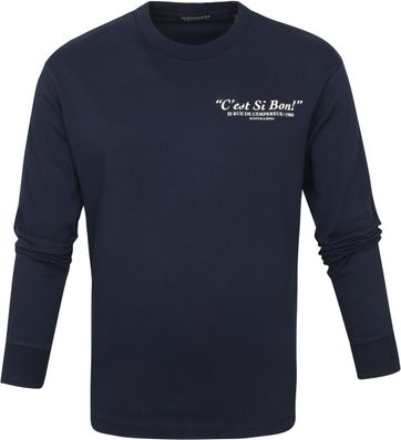 Scotch and Soda Longsleeve T-shirt Donkerblauw