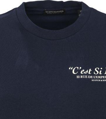 Scotch and Soda Longsleeve T Shirt Navy
