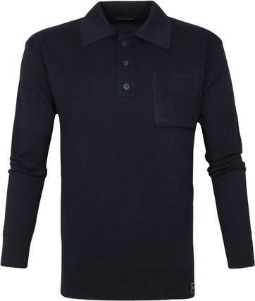 Scotch and Soda Merinowool Polo Darkblue