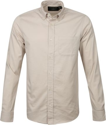 Scotch and Soda Overhemd Beige Solid