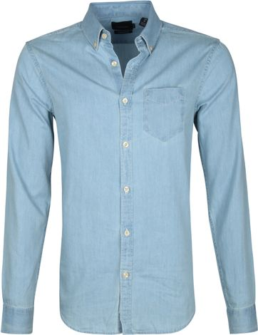 Scotch and Soda Overhemd Blauw Denim