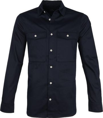 Scotch and Soda Overhemd Donkerblauw