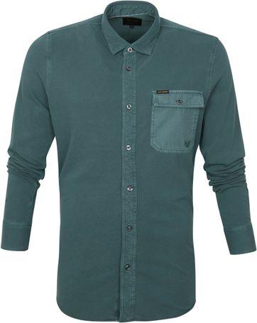 Scotch and Soda Overhemd Garment Dye Donkergroen