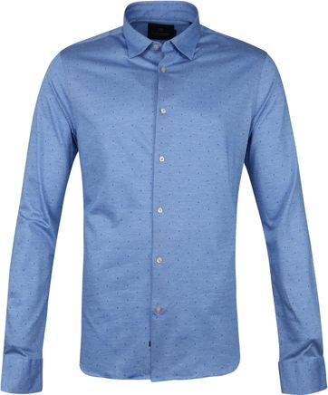 Scotch and Soda Overhemd Stippen Blauw