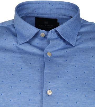 Scotch and Soda Overhemd Stippen Blauw
