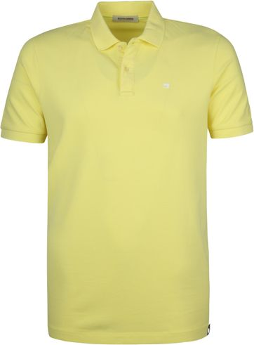 Scotch and Soda Polo Bamboo Geel