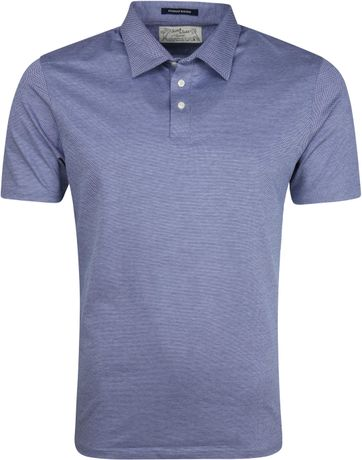 Scotch and Soda Polo Dessin Blauw