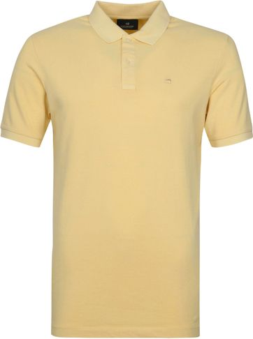 Scotch and Soda Polo Garment Dye Geel