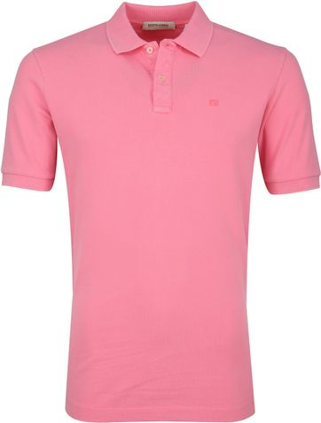 Scotch and Soda Polo Hibiscus Roze