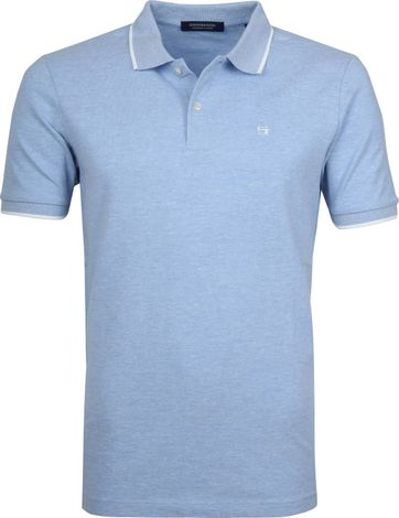 Scotch and Soda Polo Melange Blauw