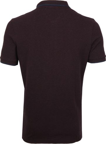 Scotch and Soda Polo Melange Bordeaux