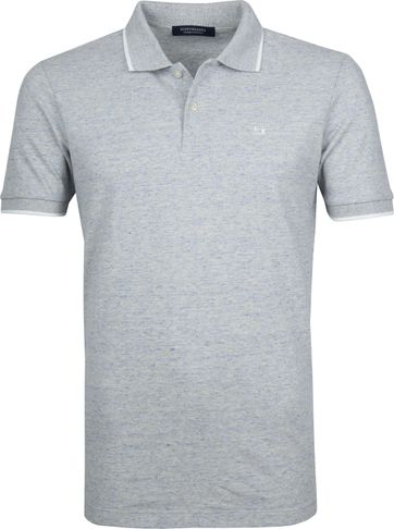 Scotch and Soda Polo Melange Lichtblauw