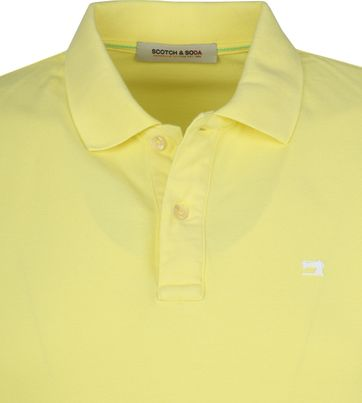 Scotch and Soda Polo Shirt Bamboo Yellow