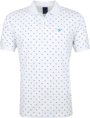 Scotch and Soda Polo Shirt Blocks White