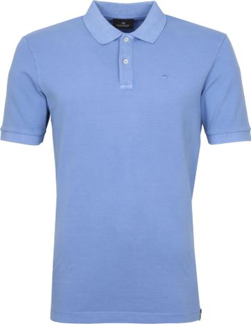 Scotch and Soda Polo Shirt Garment Dye Blue