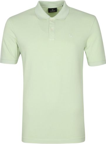 Scotch and Soda Polo Shirt Garment Dye Light Green