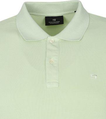 Scotch and Soda Polo Shirt Garment Dye Light Green