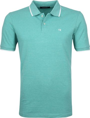 Scotch and Soda Polo Shirt Melange Esmerald
