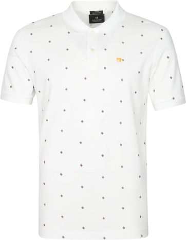 Scotch and Soda Polo Shirt Pique Weiss