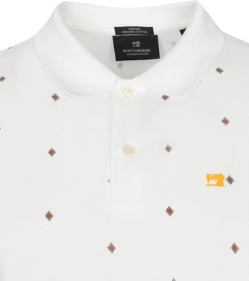 Scotch and Soda Polo Shirt Pique White